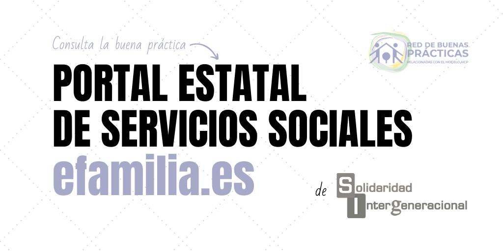 Portal Estatal de Servicios Sociales: efamilia.es