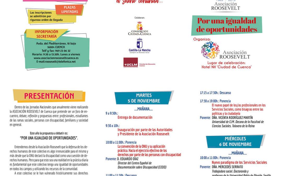 Fundación Pilares, presente en las XXIII Jornadas Nacionales sobre Personas con Discapacidad. Cuenca, 5-6/11/2019