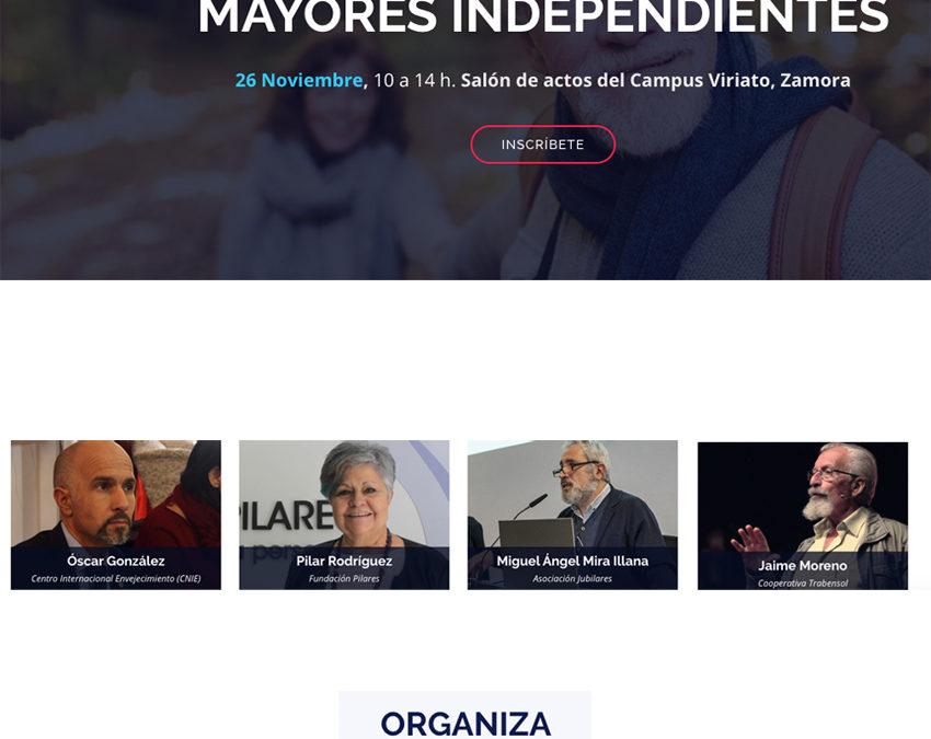 Pilar Rodríguez participa en la jornada Esperanza longeva. Mayores independientes. Zamora, 26/11/2019