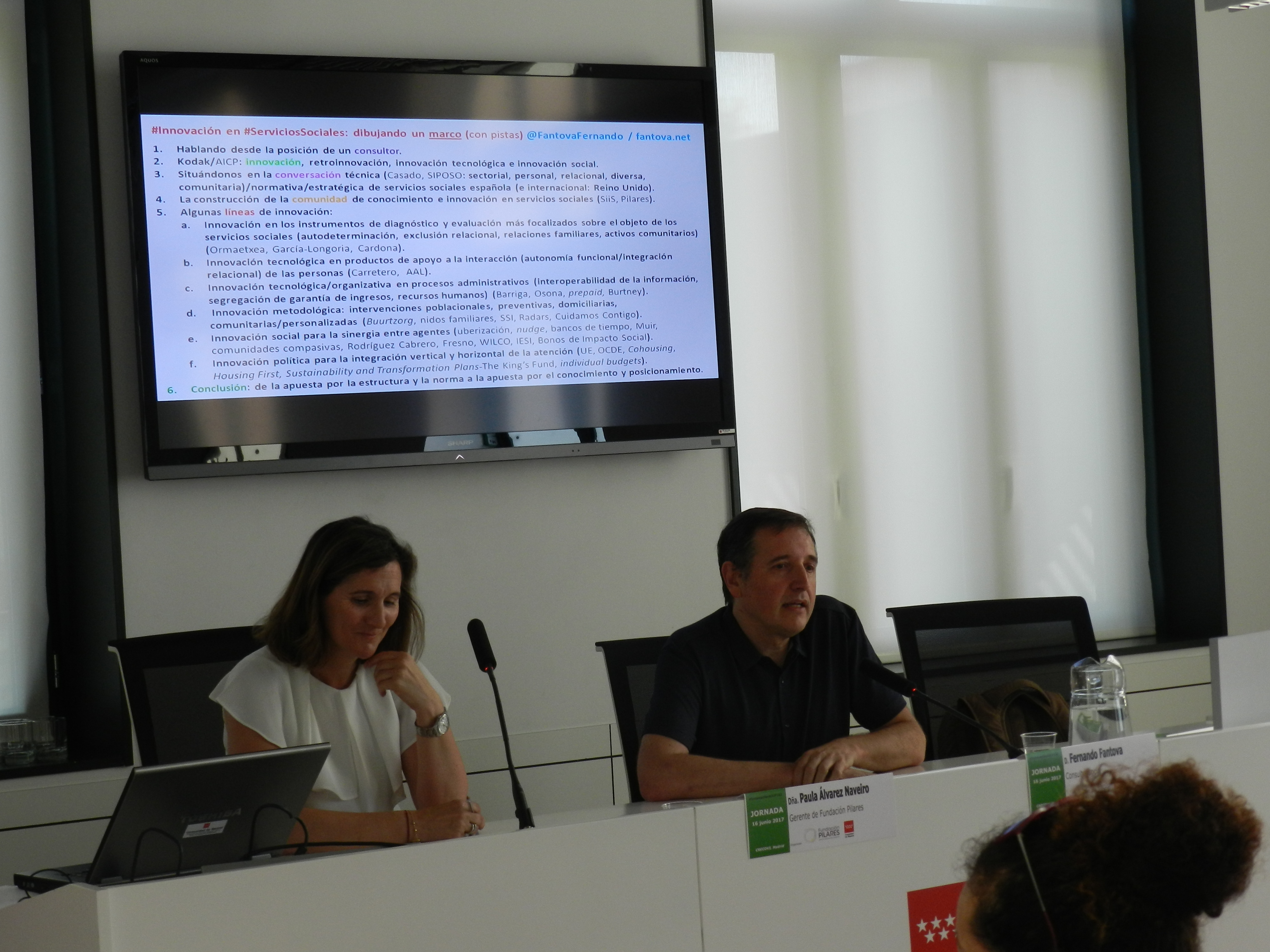 Paula Álvarez Naveiro y Fernando Fantova