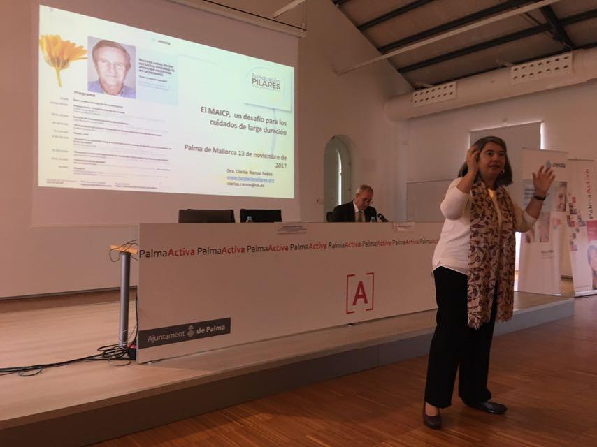 Clarisa Ramos-Feijoó en la jornada Atenzia de Palma de Mallorca