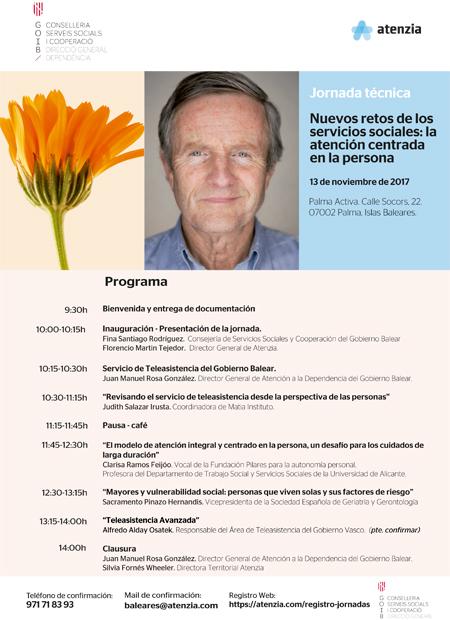 Jornada: Nuevos retos de los servicios sociales: la atención centrada en la persona. Palma de Mallorca, 13/11/2017
