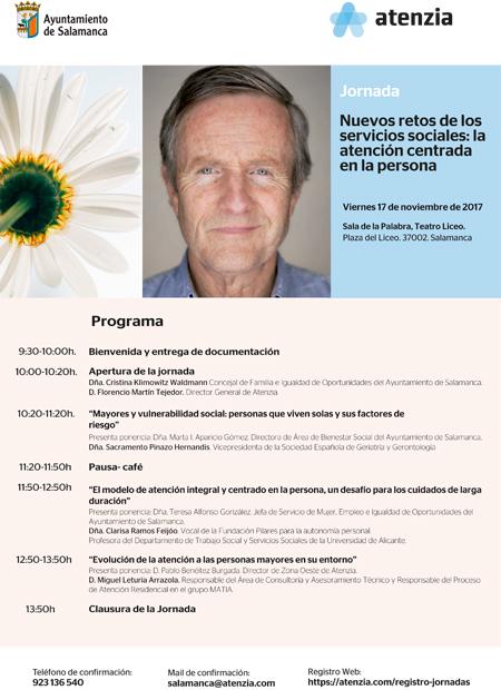 Jornada: Nuevos retos de los servicios sociales: la atención centrada en la persona. Salamanca, 17/11/2017