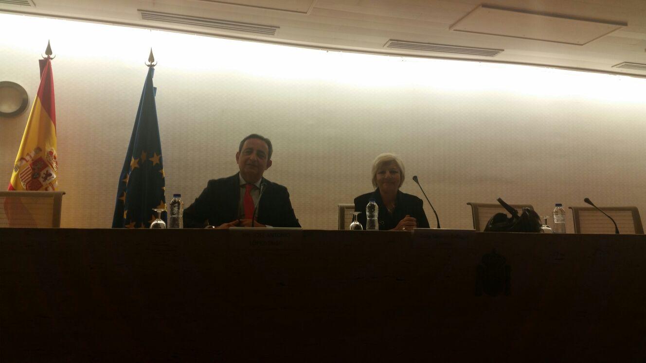 Dª Carmen Balfagón Lloreda, Directora General IMSERSO y D. José Antonio López Trigo, Presidente SEGG