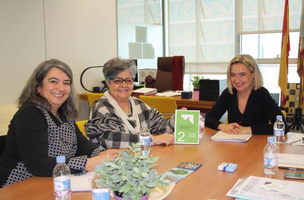 Reunión de Fundación Pilares con Elena Ferrando, Secretaria Autonómica de Servicios Sociales y Autonomía Personal de la Generalitat Valenciana.