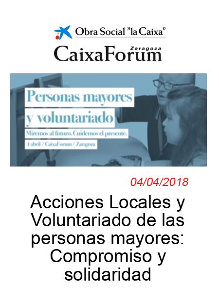 Conferencia: Acciones Locales y Voluntariado de las personas mayores: Compromiso y solidaridad.