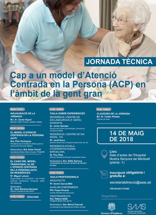 Jornada: 'Hacia un modelo de Atención Centrada en la Persona (ACP) en el ámbito de las personas mayores'