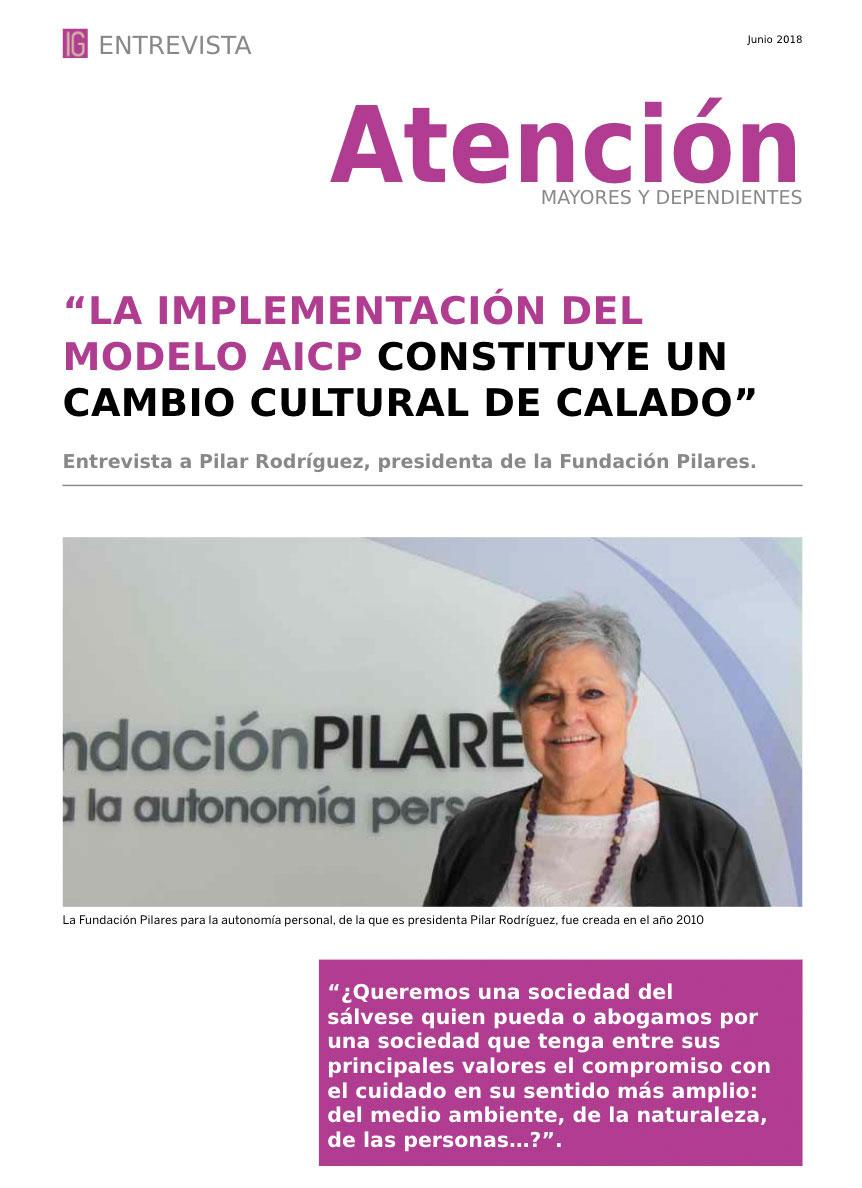 Entrevista a Pilar Rodríguez en InfoGeriatría