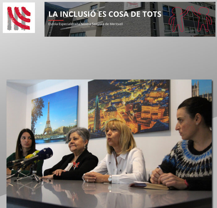 Pilar Rodríguez, Presidenta de la Fundación Pilares, visita l'Escola Especialitzada Nostra Senyora de Meritxell (EENSM)