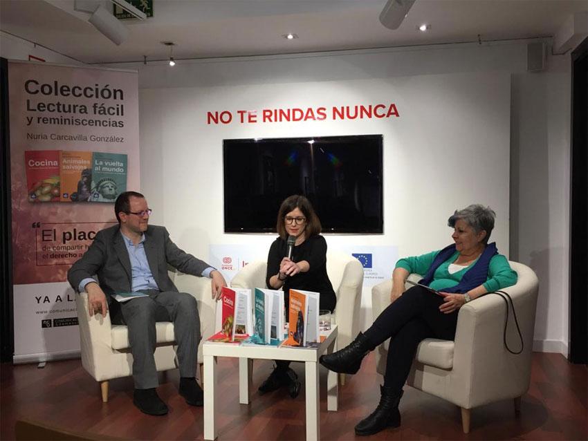 Nuria Carcavilla,Pilar Rodríguez y Óscar García
