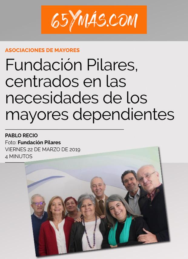 Entrevista a Pilar Rodríguez en la revista 65 y más