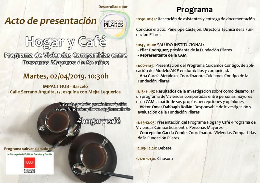 Programa jornada presentación Hogar y Café