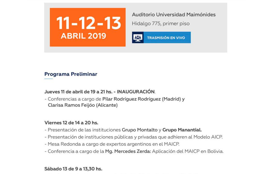 Fundación Pilares estará presente en las 'Jornadas internacionales sobre el Modelo de Atención Integral y Centrada en la Persona (MAICP)' de Buenos Aires, Argentina