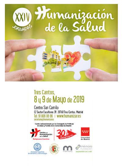 Pilar Rodríguez participa en las XXIV Jornadas de Humanización de la Salud. Tres Cantos (Madrid), 08-09/05/2019