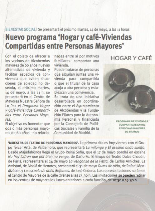 Presentación del Programa Hogar y Café -Viviendas Compartidas entre Personas Mayores-, a Entidades/Asociaciones/Personas Mayores del municipio de Alcobendas