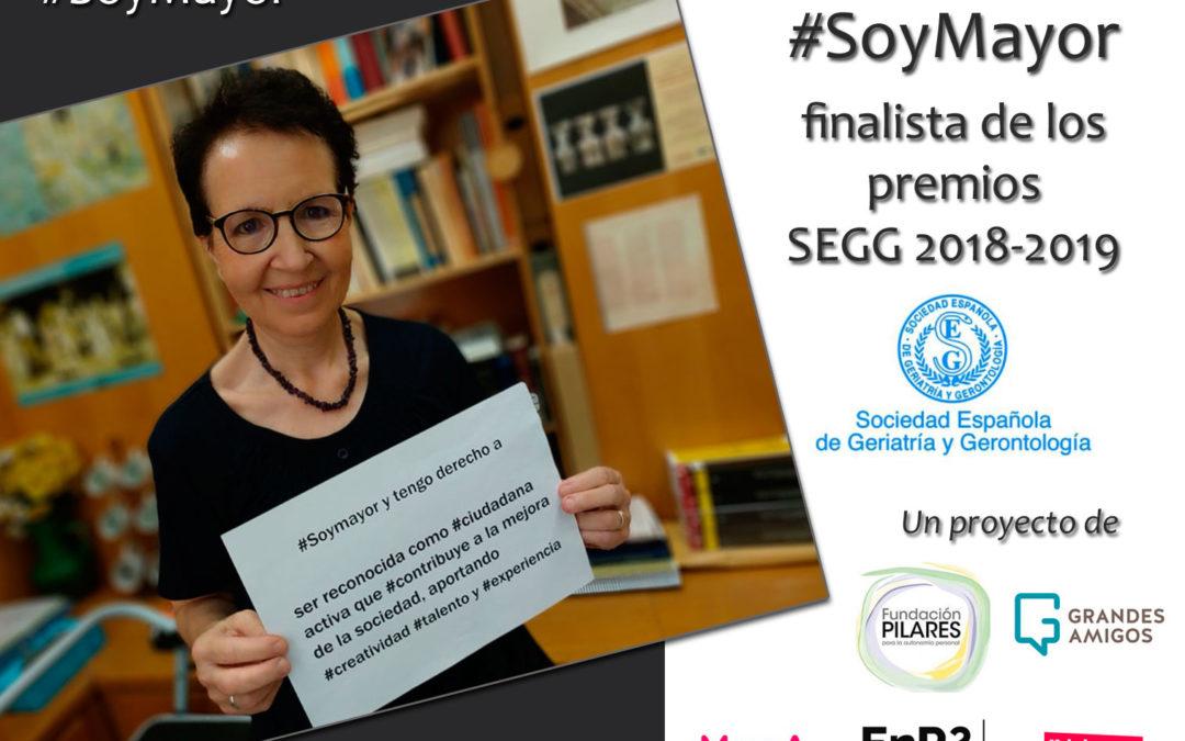 La campaña «#SoyMayor», finalista al Premio «Imagen del Envejecimiento SEGG 2018-2019