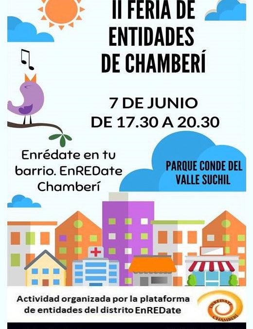 Fundación Pilares participa en la II FERIA de ENTIDADES de EnREDate en Chamberí. 07/06/2019