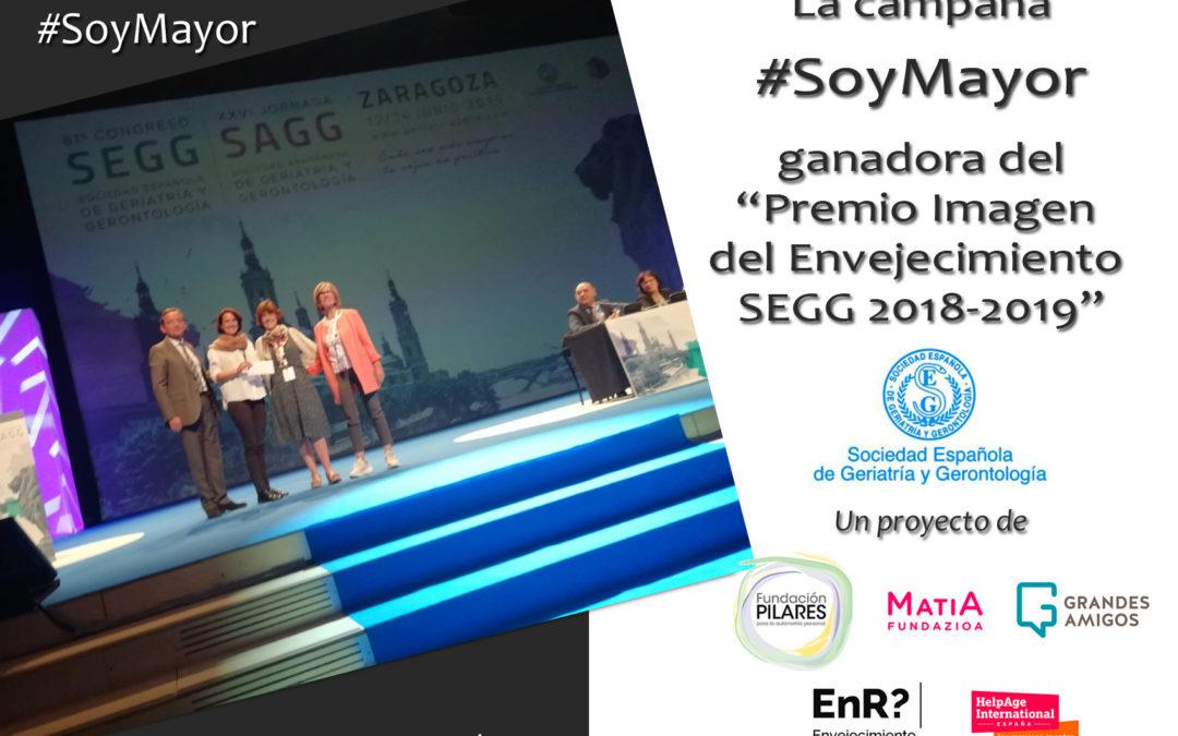 La campaña #SoyMayor, en la que participa Fundación Pilares, ganadora del Premio Imagen del Envejecimiento SEGG 2018-2019