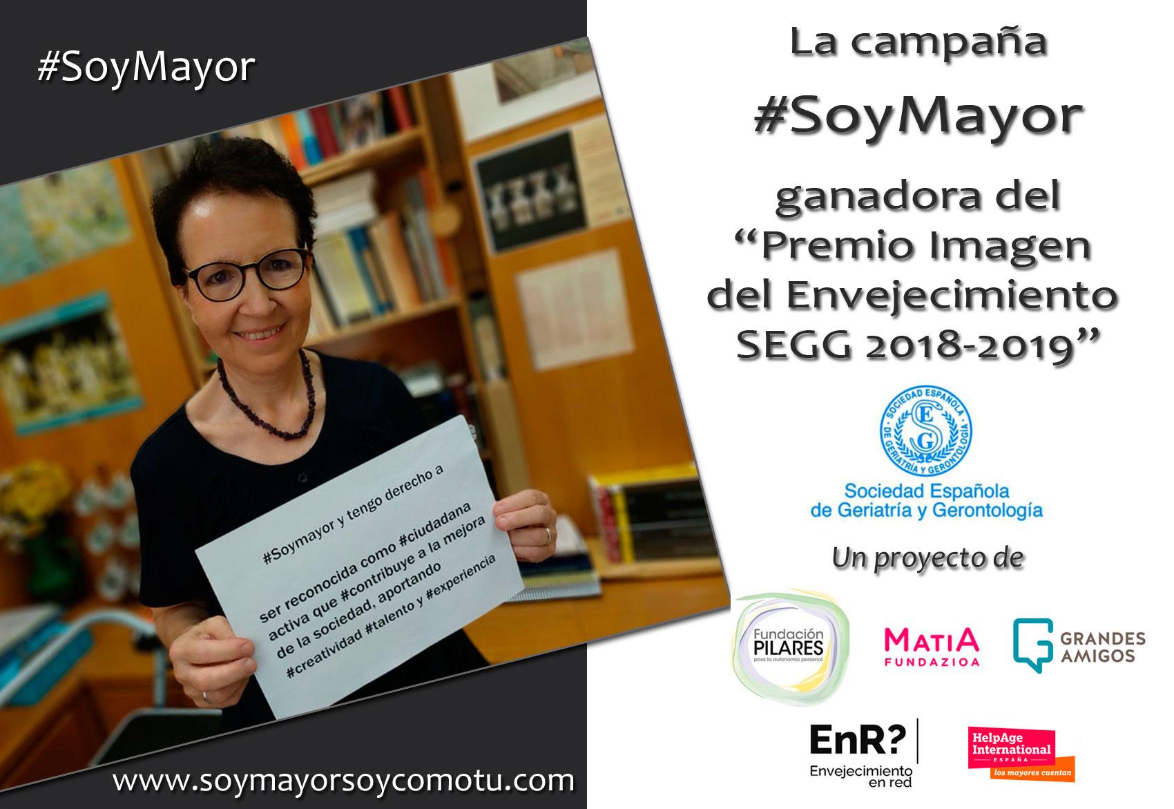 #SoyMayor: campaña por el 1 de octubre, Día Internacional de las Personas Mayores