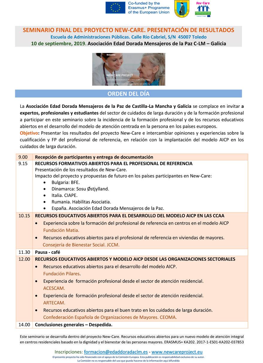 Seminario final de proyecto New-Care. Presentación de resultados