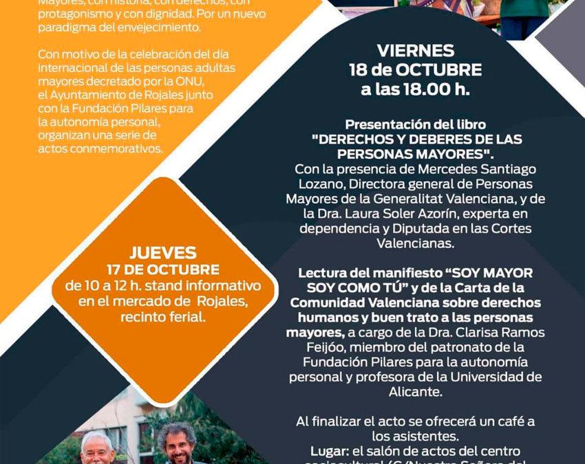 Jornada en Rojales con motivo del Día Internacional de las Personas Mayores. 18/10/2019