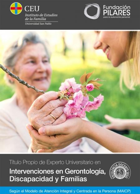 Experto Universitario en Intervenciones en Gerontología, Discapacidad y Familias, según el Modelo AICP