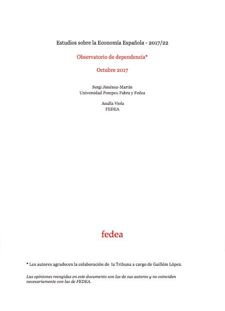 Estudios sobre la Economía Española – 2017/22. Observatorio de dependencia