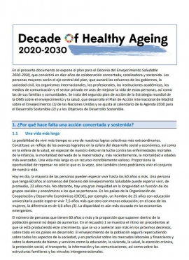 Decade of Healthy Ageing 2020-2030