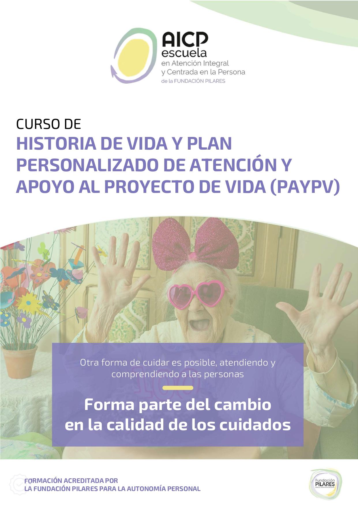 Portada Curso Historia de Vida y PAYPV
